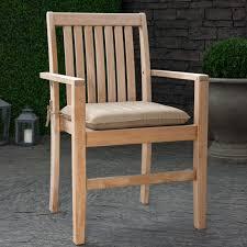 Patio Furniture Cushions Sunbrella by Decorating Single Wooden Chair With Comfortable Tan Sunbrella