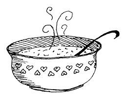 bowl of chicken soup drawing Google Search