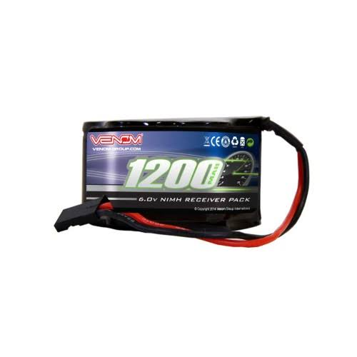 Venom 5 Cell Hump­ Receiver Nimh Battery - 6V, 1200mah