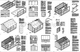 8x10 Shed Plans Materials List Free by 12 U0027 X 16 U0027 Shed With Porch Pool House Plans P81216 Free