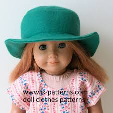 Easy Felt Hat Pattern For 18 Inch American Girl Doll 18 Inch Doll