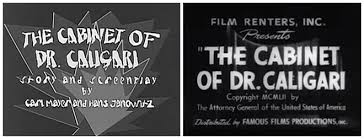 The Cabinet Of Doctor Caligari 1920 by The Cabinet Of Dr Caligari 1920 U2014 Art Of The Title