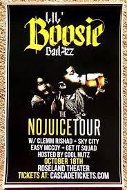 LIL BOOSIE BADAZZ 2015 Gig POSTER Portland Oregon Concert