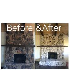 Painted Rock Fireplace Pics how to redo a stone fireplace bowbox