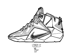 Lebron Shoes Coloring Pages
