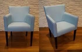 details zu blau echtleder esszimmerstühle mit armlehnen stuhl sessel esszimmer leder stühle