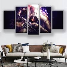 large framed black darth vader profile canvas print