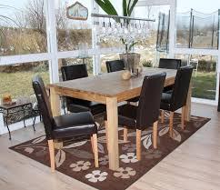 6x esszimmerstuhl stuhl küchenstuhl littau leder braun helle beine