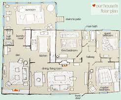 Ranch House Floor Plans Colors What U0027s The Floor Plan Stan Young House Love