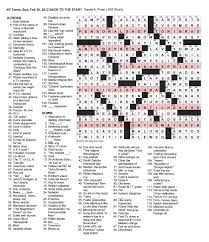Christmas Tree Type Crossword by The New York Times Crossword In Gothic February 2012