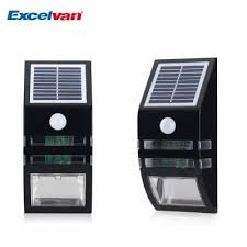 excelvan bright outdoor solar powered motion activated led