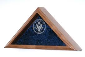 Navy Flag Display Case Engraved US Cases