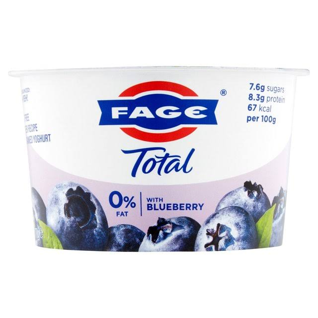 Fage Total 0% Fat Free Blueberry Yoghurt - 170g