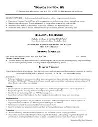 new graduate resume rn sle resum