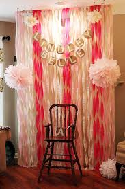 Pink White And Gold Birthday Decorations by Best 25 Streamer Wall Ideas On Pinterest Party Wall Decorations