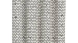 Grey And White Chevron Curtains by Ati Home Finesse Faux Linen Grommet Top Curtain Panel Pair Free