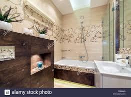 100 Small Modern Apartment Stylish Bathroom In Small Modern Apartment Stock Photo