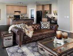 attractive leather sofa living room ideas how to decorate a living