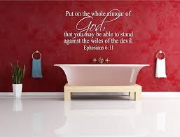 Epheians 611 Bible Verse Vinly Wall Decal Sticker Decor
