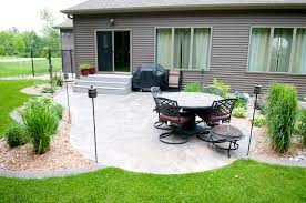 Concrete Patios Designs Best Decks Landscape Deck & Patio