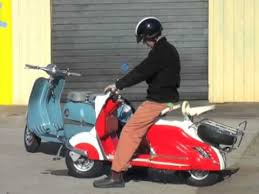 Collection Of 5 Restored Vintage Scooters Taken For A Road Test