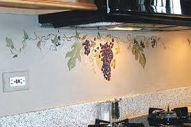 grape decor for kitchen to obtain the vintage sense