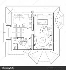 100 Attic Apartment Floor Plans The Attic Floor In The Cottage Architectural Plan Of A