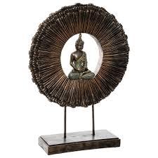 dekoration mit buddha figur 37 x 11 x 49 5 cm braun emako