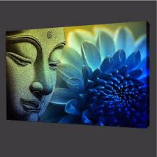 1199 AUD Buddha Peace Zen Canvas Print Home Decor Modern Wall