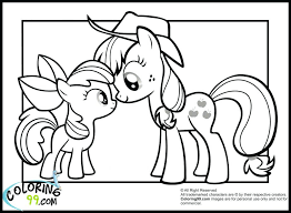 Pony Coloring Pages My Little Applejack Baby Pinkie Pie Large Size