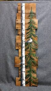 Landscape Of Trees Painted On Recycled Vermont Barn Board, Wood ... Reclaimed Wood Boards Amish Tobacco Lath Rustic Barn Board Primitive Santa Believe Painted Country 25 Unique Wood Crafts Ideas On Pinterest Signs 402 Best Unique Framing Ideas Images Picture Frame Image Result For How To Style The Deer Head Wall Decoration Canada Flag Custom Wood Sign Collection Farmhouse Board Decor Barn And Rseshoe Table Horse Shoe