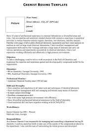 Chemist Resume Template Picture MACROBUTTON DoFieldClick Your Name Street Address