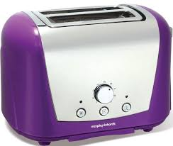 Purple Morphy Richards Accents 44387 2 Slice Toaster