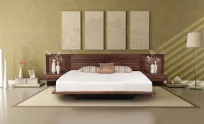 bedroom nice low profile bed ideas with nice bedside table and