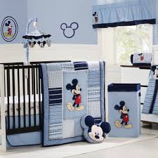 Modern Crib Bedding Sets by Black Wooden Crib With Mickey Mouse Baby Nurseery Bedding With