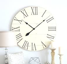 Full Image For Modern White Vintage Wall Clock 76 Ivory Large Black And