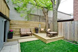split level entry deck contemporary with patio chairs small