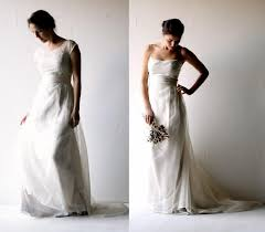 Wedding Dress Boho Silk Lace Alternative Bridal Separates Rustic