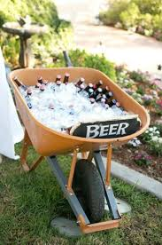 Wheelbarrow Cooler For A Barbeque Garden Party Idea