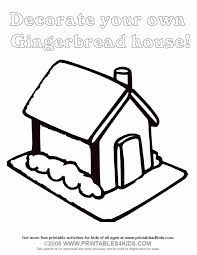 Gingerbread House Coloring Page Printables For Kids Free Word