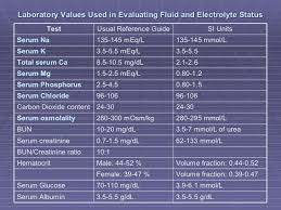 image result for normal electrolyte levels nursing school
