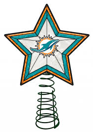 Christmas Tree Lights Amazon by Amazon Com Miami Dolphins Star Christmas Tree Topper Home U0026 Kitchen