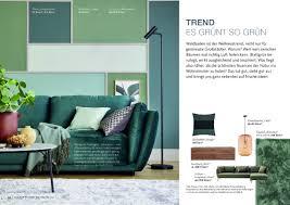 broschüre wohnzimmer trends schöner wohnen kollektion