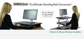 Stand Up Desk Conversion Kit Ikea by Amazon Com Uncaged Ergonomics Change Desk Adjustable Height