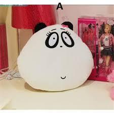 Cute 3D panda pillow pet for home deco plush toys