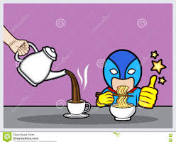 Download Breakfast Time For Superhero Stock Photo