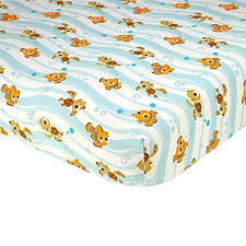 amazon com disney baby finding nemo fitted crib sheet baby