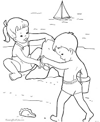 Beach Page Printable Coloring Sheets
