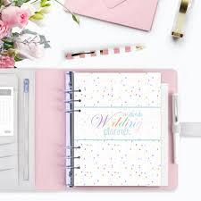 Amazing Personalised Wedding Planner Book Organiser Diamond White