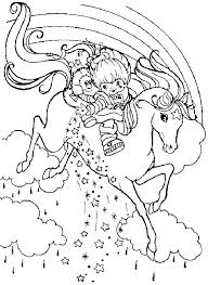 Rainbow Brite Color Page Cartoon Characters Coloring Pages Plate Sheetprintable Picture